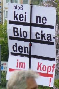 Bloß keine Blockade im Kopf