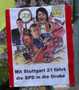 Mit Stuttgart 21 fährt die SPD in die Grube