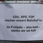 CDU, SPD, FDP machen unseren Bahnhof he