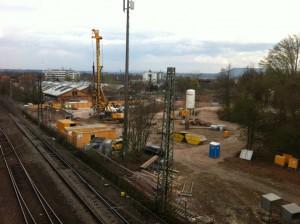 Bauarbeiten im Bereich Wagenhallen