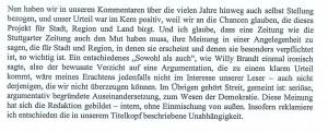 unabhängige Stuttgarter Zeitung
